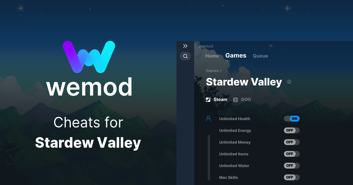 Stardew Valley Cheats and Trainers for PC - WeMod