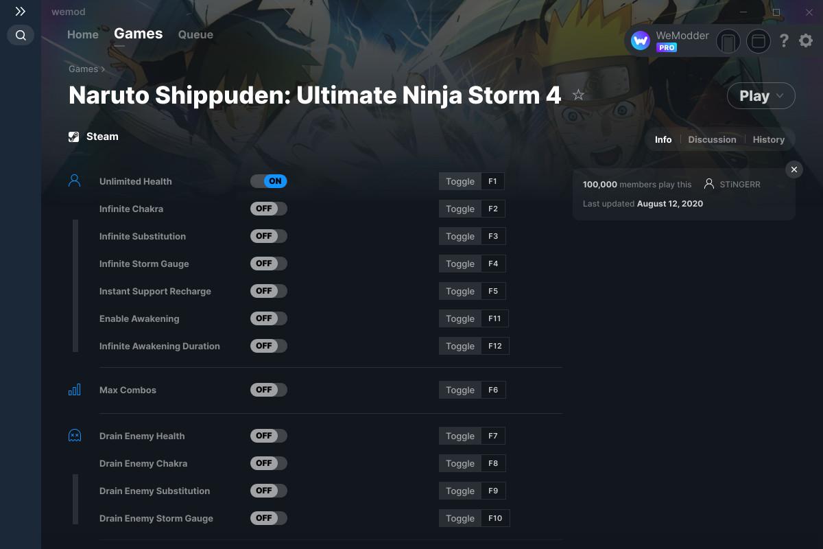 Naruto Shippuden: Ultimate Ninja Storm 4 Cheats and Trainers