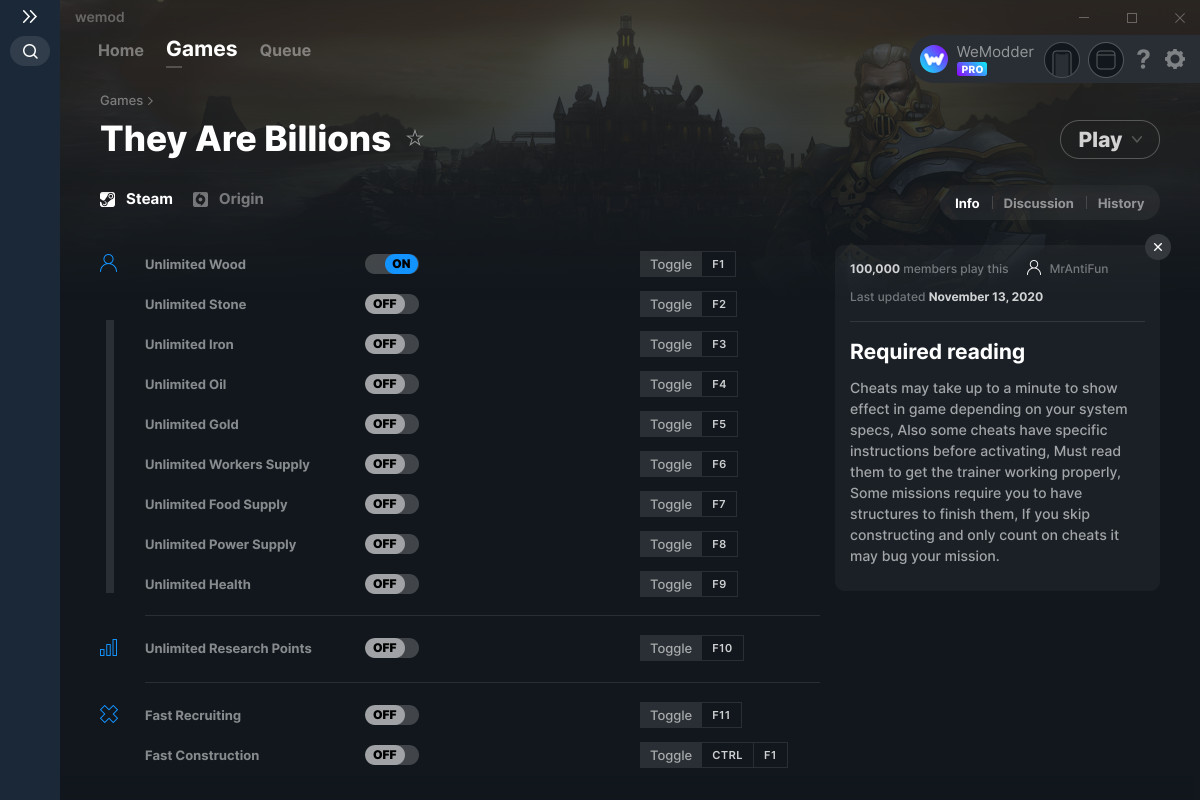 They Are Billions Cheats and Trainers for PC - WeMod
