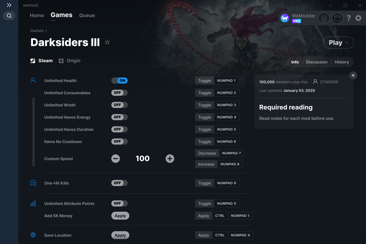 Darksiders III Cheats and Trainer for Steam - Trainers