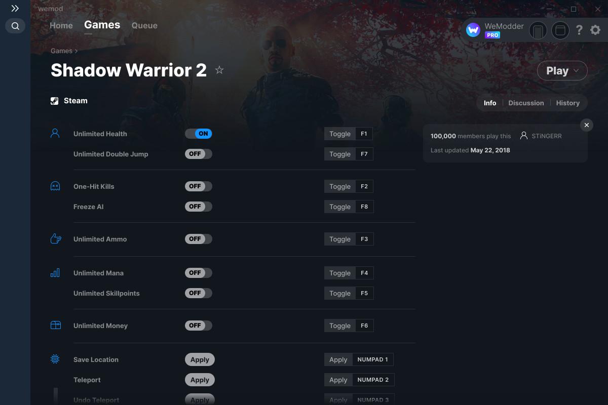 Shadow Warrior 2 Cheats