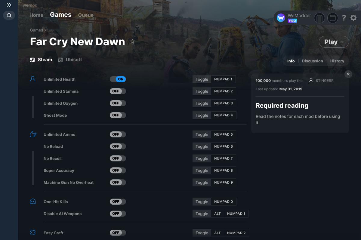 Far Cry New Dawn Cheats