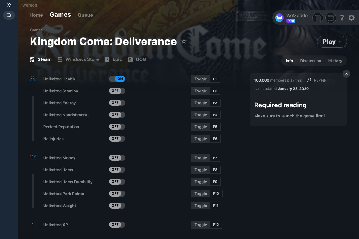Kingdom Come Deliverance Trainer