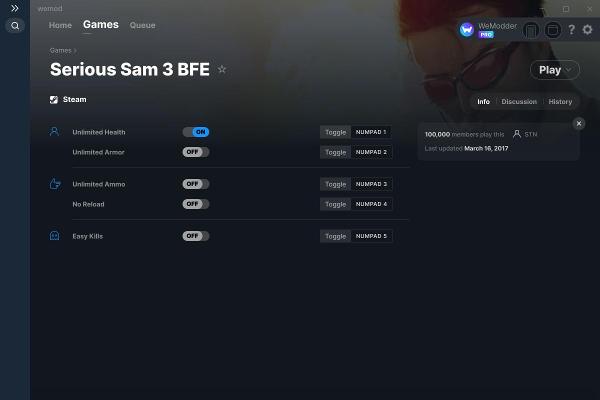 serious sam 2nd encounter hd cheats