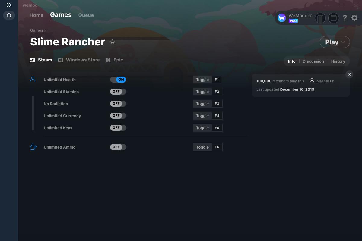 slime rancher pc cheats